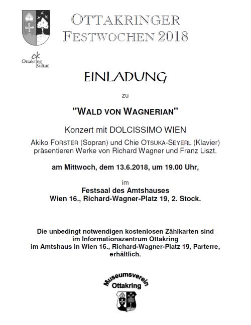 """Festwochenkonzert - """"Wald von Wagnerian"""""""